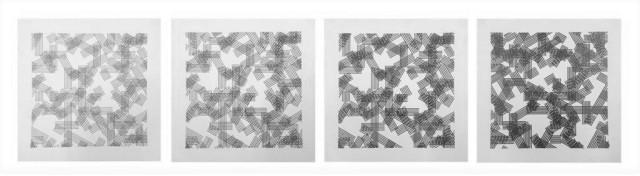 Linee carta 12 r - serie di 4 anni 80 cm 20 x 20