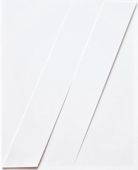 Rilievo, 1977, estroflessioni e acrilico su tavola, cm 50 x 37 r