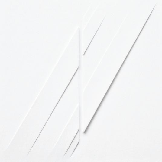Rilievo, estroflessioni e acrilico su tavola, cm 40 x 40r
